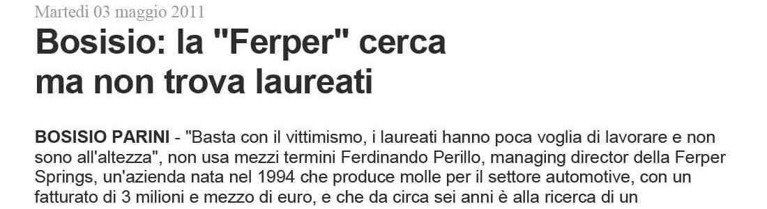 "The ""Ferper"" search, but does not find graduates"